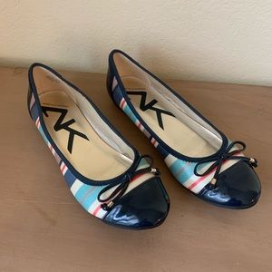 Like New Anne Klein Sport Colorful Striped Flats